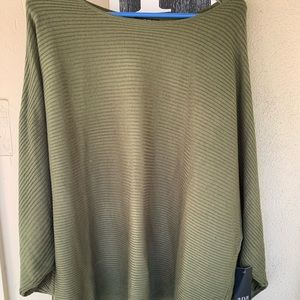 a.n.a knit oversized olive color new w/tags s. xxl